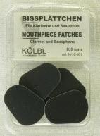 Kölbl Bissplatten: Saxophon / Klarinette 0,8 mm, schwarz (4 Stück)