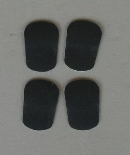 Mundstück-Biss-Blättchen schwarz 1 mm (4 Stück)