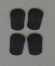 Mundstück-Biss-Blättchen schwarz 1 mm (4...