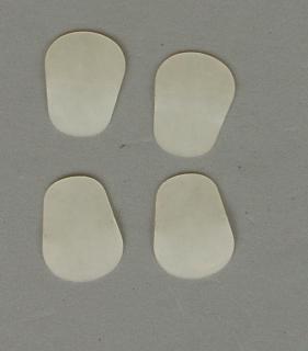 Mundstück-Biss-Blättchen transparent 0.6mm (4 Stück)