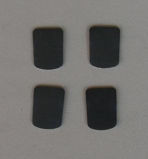 Mundstück-Biss-Blättchen schwarz 0.8 mm klein (4 Stück)