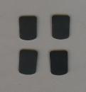 Mundstück-Biss-Blättchen schwarz 0.8 mm klein...