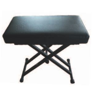 Silver Eagle keyboard stool adjustable in height, upholstered seat, black A10