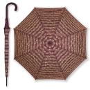 Regenschirm mit Noten - Schwarz/rot/weiss