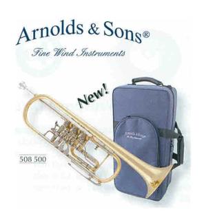 Arnolds & Sons B-Trompete mit Zylinder(Dreh-)Ventile ATR-4000