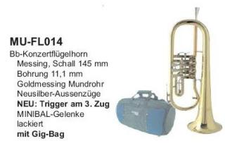 MUSICA Flügelhorn, Trigger, inkl. Gigbag