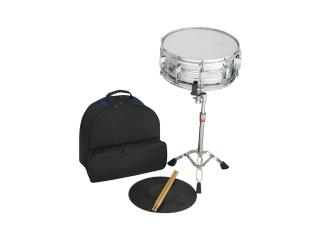 Snare Drum Kit - SD-15S-C mit Ständer, Übungsmatte, Sticks und Rucksacktasche