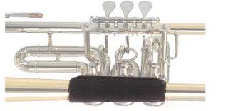 Handschutz für Flügelhorn Spezialvelours mit Klett