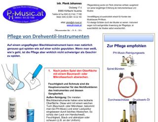 Pflegeanleitung für Drehventil-Instrumente
