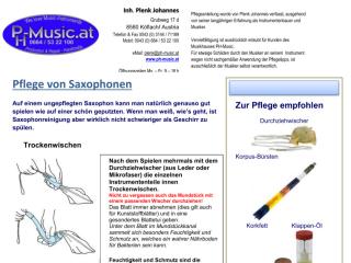 Pflegeanleitung für Saxophone