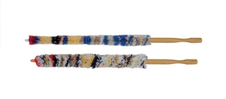 Oboe-Wischer Wolle/Holzgriff, 2 tlg.