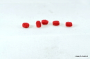 Klappen-Filz Hell ROT - Rund - D=5 x 1 mm (5 Stk)