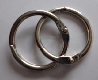 Marschbuch-Ringe D=32 mm  (1 Paar)