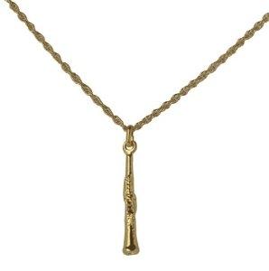 Halskette mit Klarinetten-Anhänger  (goldfarbig)