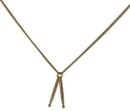 Halskette mit Drum-Sticks (goldfarbig)