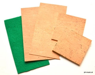 Kork&Filz-Set für Holzblasinstrumenten-Reparatur Filz grün