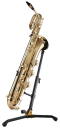 HERCULES Saxophonständer für Baritonsaxophon, faltbar, Schwenkfuß