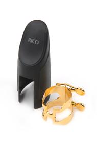RICO H-Ligature and Cap (Blattschrauben-Set) Alt-Saxoohon vergoldet