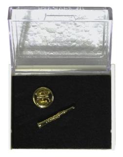 Anstecknadel - Pin - Klarinette in Box