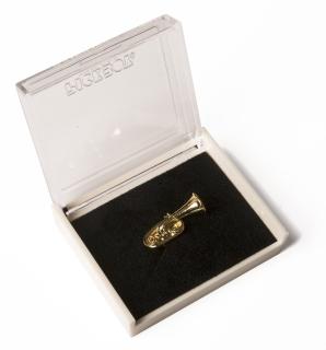 Anstecknadel - Pin - Tuba in Box (goldfarbig)