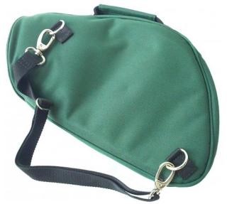 Tasche für Fürst-Pless-Horn FPH, Nylon grün, gefüttert