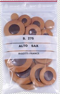 Leder-Polster-Satz Rigotti Universal mit Kunststoff-Reso für Es-Alto-Saxophon