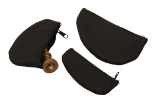 Mundstück-Taschen Tenorh./Bari/Pos. - Feinstes Leder mit Reißverschluß