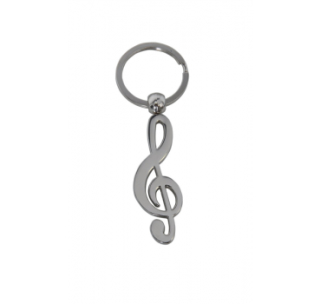 Schlüsselanhänger Edelstahl Violinschlüssel