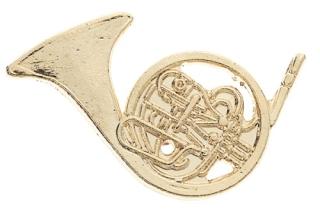 Pin - Waldhorn (goldfarbig)