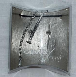 Halskette Gewa Collier Motiv Klarinette versilbert