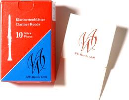 AW - Wilscher Bb Clarinet Reeds 2.5 German Cut