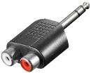 InLine Audio Adapter, 6,3mm Klinke Stecker auf 2x Cinch...