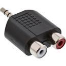InLine Audio Adapter, 3,5mm Klinke Stecker an 2x Cinch...