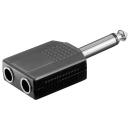 Adapter Klinke 6,3 auf 2 x Klinke 6,3 mono