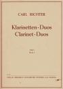 Carl Richter - Klarinetten Duos Heft 1