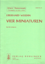 Gitarre Kammermusik - Vier Miniaturen v. Eberhard Werdin
