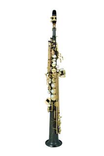 ANTIGUA B-Sopran-Saxophon SS4290BG-CH, Korpus BlackNickel, Klap. vergoldet POWER BELL SERIE
