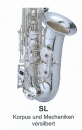 ANTIGUA B-Tenor-Saxophon TS4248SL-GH versilbert, POWER...