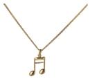 Halskette mit 16telnote-Anhänger (goldfarbig)