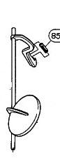 Yamaha Klappen-Rolle für tief-B-Klappe Saxophon (1)