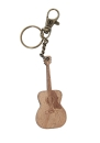 Schlüsselanhänger Holz Gitarre