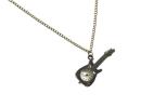 Halskette mit Gitarre-Anhänger mit Uhr