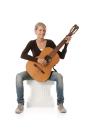 Hagi Ersatz- Pads fein für Gitarrenstütze...