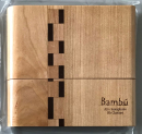 Bambú reed case for 10 Bb clarinet or 10 alto saxophone reeds, handmade from wood