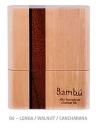 Bambú Blattetui für 8 Bass-Klarinette od. 8 Tenor-/Bariton-Saxophon-Blätter, Handgemacht aus Holz